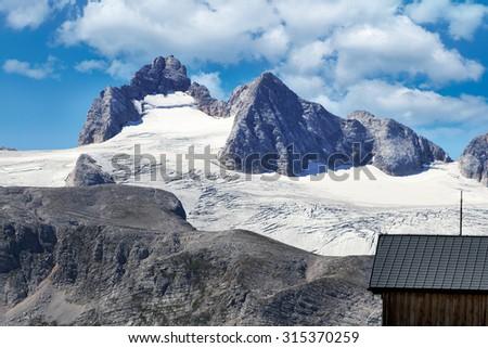 Dachstein panorama from Krippenstein, Austria - stock photo