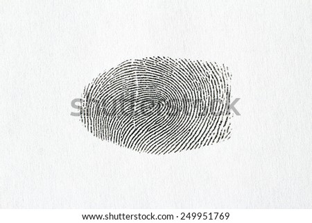 Dactyloscopy and fingerprint on the sheet of papper