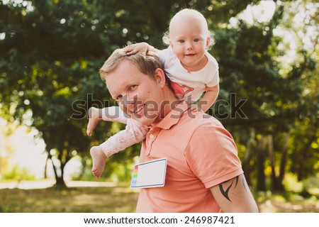 Dad and baby - stock photo
