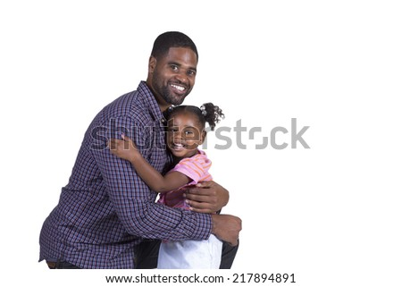 Dad and his daughter - stock photo