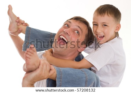 dad playing with his son