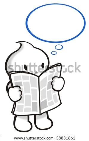 DaDa read his news paper. - stock photo