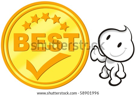DaDa with the Best choice icon. - stock photo