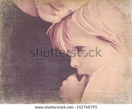 Daddy Cuddles - stock photo