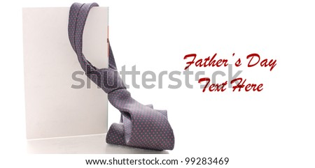 Daddy's Neck Tie on Blank Greeting Card with Space for Text on White - stock photo