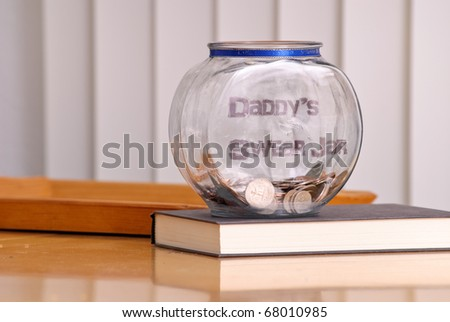 Daddy's Swear Jar - stock photo