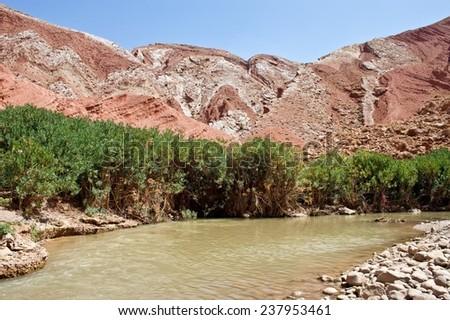 Dades Gorge valley, Morocco - stock photo