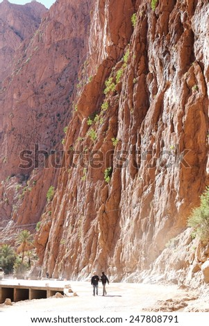 dades gorges todra and atlas morocco - stock photo