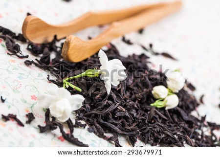 Dahongpao a kind of black tea studio shot - stock photo