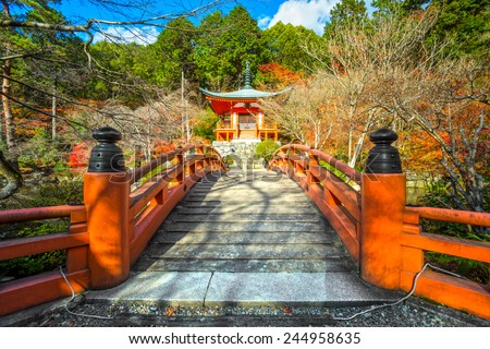 Daigo-ji Buddhist temple in Fushimi-ku, Kyoto, Japan. - stock photo