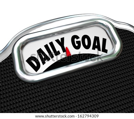Daily Goal Scale Diet Plan Weight Loss