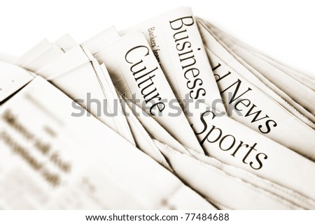 Daily News - stock photo