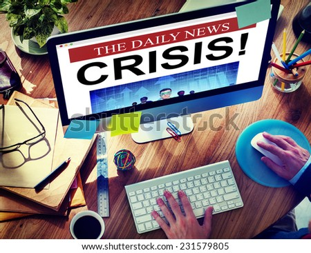 Daily News Crisis Failure Online Concepts - stock photo