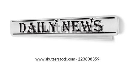Daily News Newspaper - stock photo