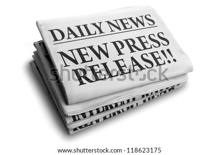 Daily news newspaper headline reading new press release concept for breaking news - stock photo