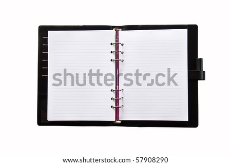 Daily on white background - stock photo