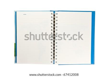 Daily on white background - stock photo