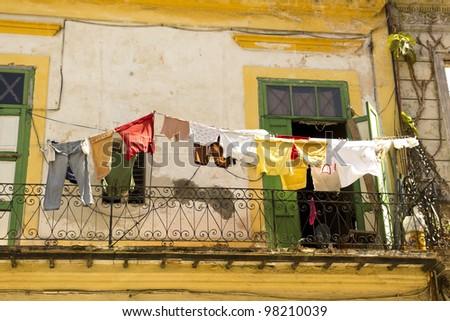Daily scene in Old Havana. Havana, Cuba - stock photo
