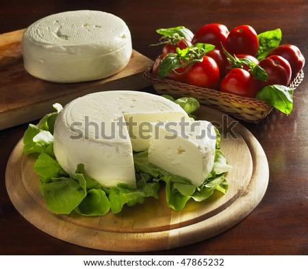 dairy cream cheese - stock photo