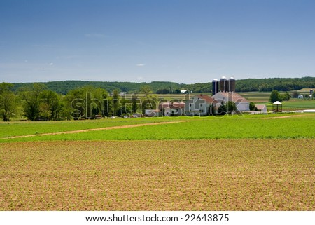 Dairy Farm in rural Pennsylvania - stock photo