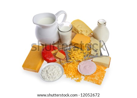 Pictures of Dairy Food Group Dairy Food Group Isolated on