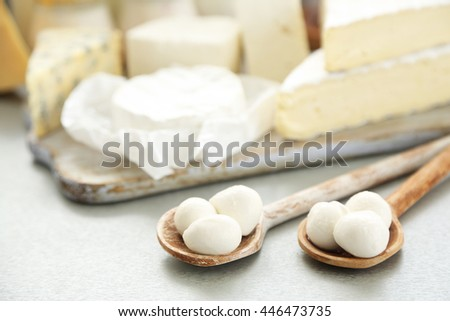 Dairy products, closeup