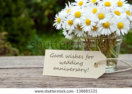 Daisies card wedding anniversaryflowerswedding anniversary stock