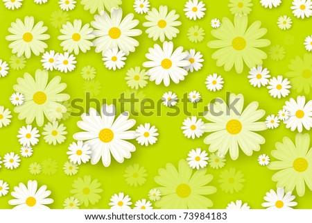 daisies background - stock photo