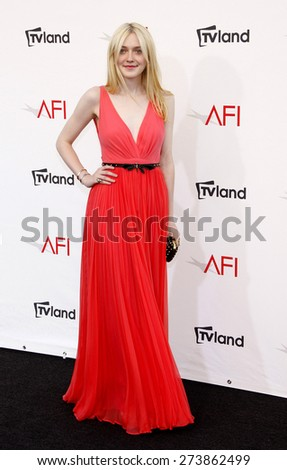 Dakota Fanning at the 40th AFI Life Achievement Award Honoring Shirley MacLaine held at the Sony Studios in Los Angeles on June 7, 2012.  - stock photo