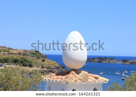 Dali house in Costa Brava, Catalonia, Spain - stock photo