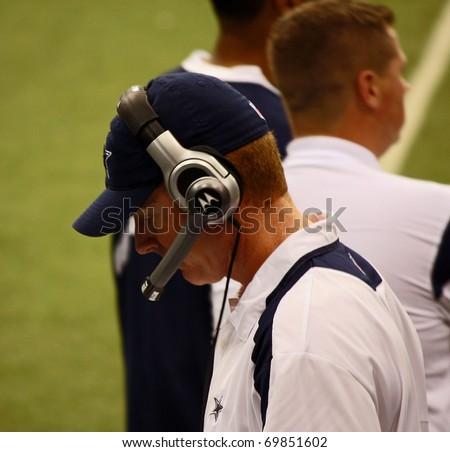 DALLAS - JAN 6: The Dallas Cowboys named Jason Garrett their head coach on January 6, 2011. - stock photo