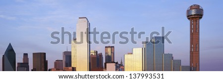 Dallas skyline in Texas - stock photo