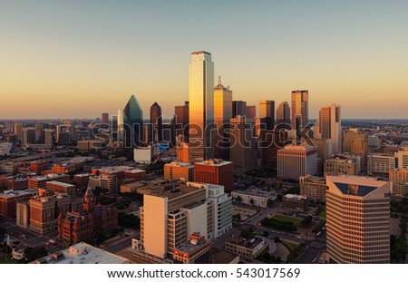 Dallas, Texas cityscape at sunset