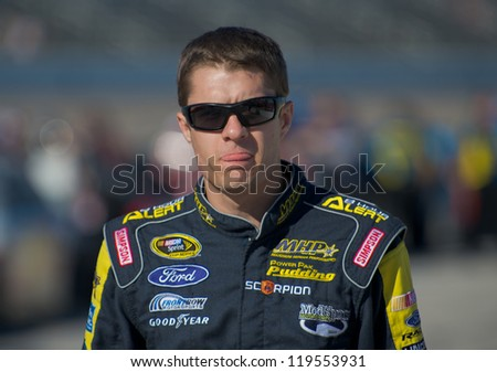 DALLAS, TX - NOVEMBER 02: David Ragan at the Nascar Sprint Cup Qualifying at Texas Motorspeedway in Dallas, TX on November 02, 2012