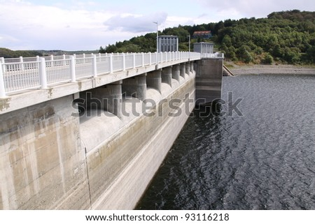 dam bridge and lake in the Harz in Germany