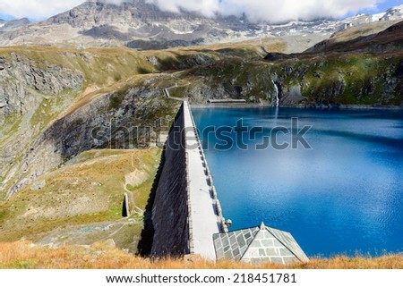 Dam Goillet - Aosta Valley - 2,158 m.a.s.l. - stock photo