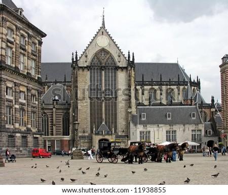 Dam Square, Amsterdam - stock photo