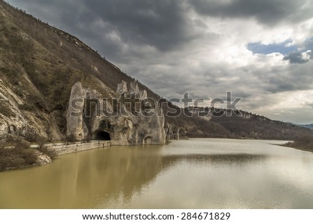 Dam Tsonevo and Wonderful Rocks - stock photo