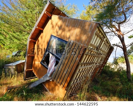 Damage from Tohoku Earthquake and Tsunami - stock photo