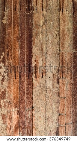 Damage wooden eaten by Termite in traditional thai house