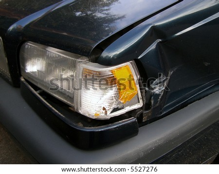 Damaged automobile. - stock photo