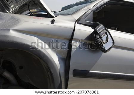Damaged car - stock photo