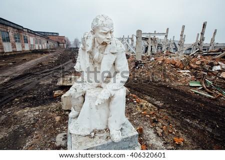 Lenin stock images royalty free images vectors shutterstock - Exterior paint peeling concept ...