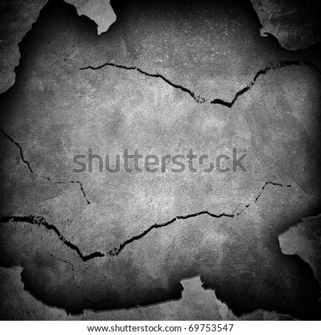 damaged wall - stock photo