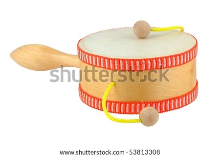 Damasa drum isolated on pure white - stock photo