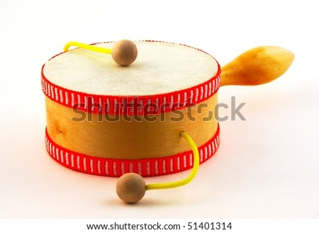 Damasa drum on white - stock photo