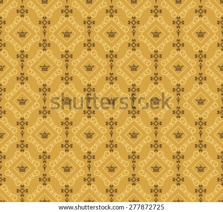 Damask Baroque Background. Wallpaper Background For Your Design. Decorating Books, Postcards, Wallpaper, Wall, Web design. Color Illustration - stock photo