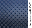 damask pattern on a silk textured blue background wallpaper - stock photo