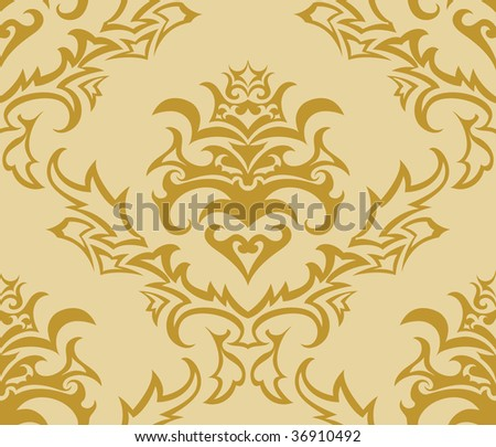 Damask seamless background. In my portfolio also available vector illustration.
