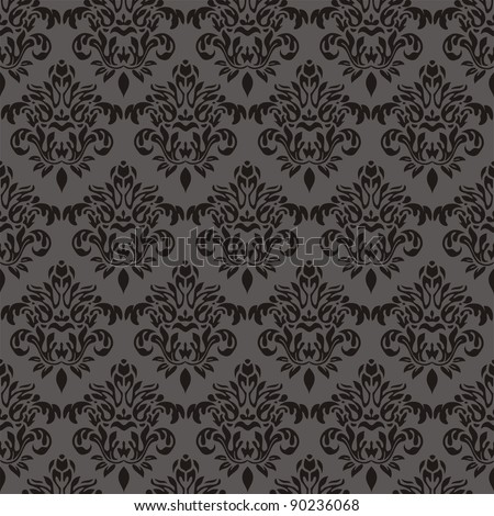 Damask seamless floral pattern. Vintage illustration.